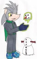 Silver and the Snowman by elijahtrevelyan