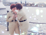 Come here and let me kiss you - Spamano by Miss-Meow-Meowth