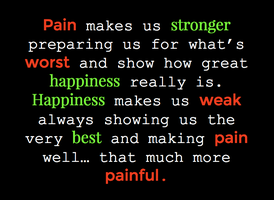 Pain vs Happiness by WhiteBleedingFox