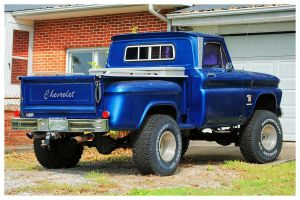 A Blue Chevy Stepside 4x4 by TheMan268
