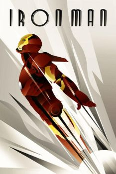 IronMan  Art deco Poster by rodolforever