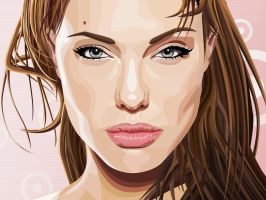 Angelina Jolie vector by DGato