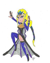 Zeladanial as an Angel of Darkness by BlackCarrot1129