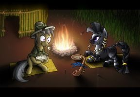 Daring Do and the Four Zebra Tribes by darth-biomech