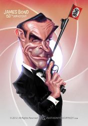 James Bond 50th Anniversary by AnthonyGeoffroy
