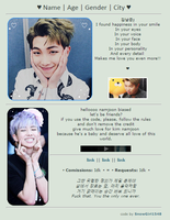 baby namjoon || non-core f2u + code by SnowGirl1548