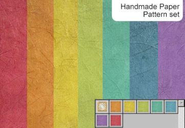 Handmade paper pattern set by melemel