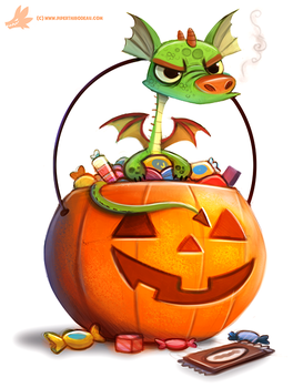 Daily Paint #1068. Candy Hoarder by Cryptid-Creations