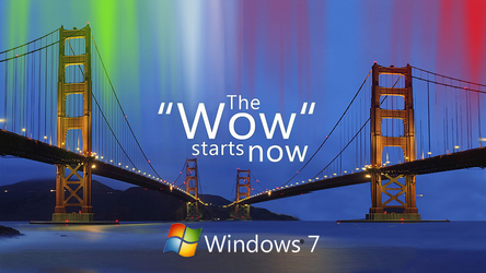 The Wow Starts Now: Windows 7 Wallpaper (Remake) by a11ryanc