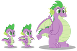 Grownup Spike reference vector by AleximusPrime