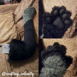 Electro-Cat Tail and Paws Prototype by crafting-calamity