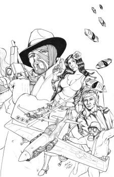 Warbirds of Mars - GA - Cover Inks by DocRedfield