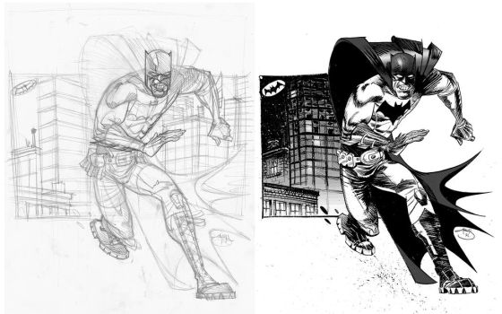 Bats Pencil and ink, Pencil and Ink by Inkpulp