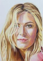 Maria Sharapova Portrait - Color Pencil Drawing by johanne-climaco