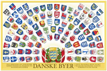 Coats of Arms of the Cities and Towns of Denmark by Regicollis