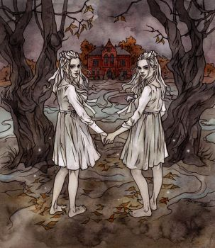 Creepy twins. by LiigaKlavina