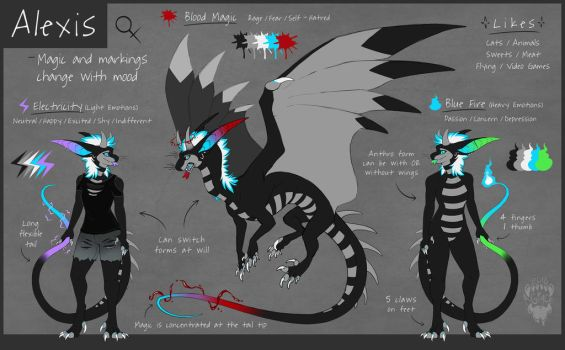 Custom Design Ref Sheet for Cheshiretails (com) by O-C-Disorder
