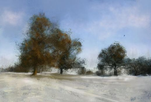 Landscape with snow. ArtRage by alartstudio