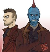 Yondu and Kraglin by PatBanzer
