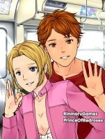 On the Subway: Michael and Ella by TheEyeShield