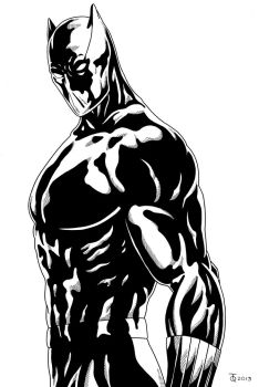 Black Panther close up Inked by TyndallsQuest