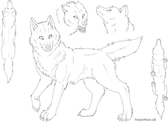 Free Feral Canine Ref Sheet by FerianMoon