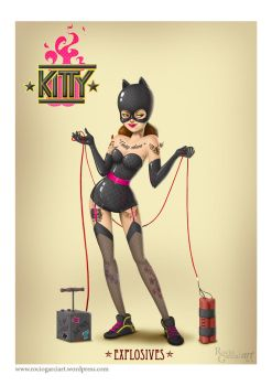 Pin Ups vs. Zombies -Kitty by RocioGarciaART