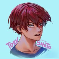 Todoroki Shouto - Red Hair by Kimopoleis