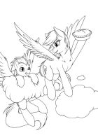 Commission - The Great Pie in the Sky by Longinius-II