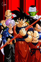 Goku-Trunks-Vegeta-Krilin-Piccolo-Ten-byUzne by Uzne