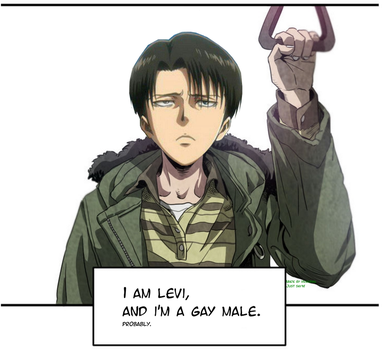 I am Levi. And I am a gay male. by Heraisan