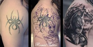 Batman Tattoo Cover Up by Remistattoo