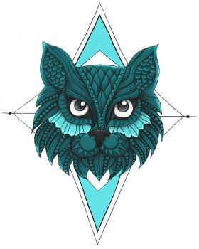 Cat tattoo design by Blamberino