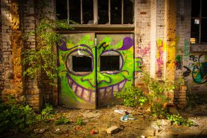 smile @ old manufactory Leipzig - Plagwitz - 2 by Stegie
