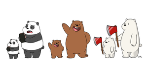 Bears and Baby Bears by OysteIce