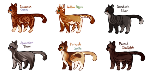 Flatsale Cat Adopts - Closed by aleskay