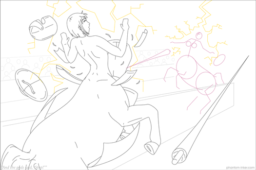 And the gods said, 'Stop!' - WIP by phantom-inker