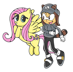 Super Liam and Fluttershy by Yoit