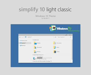 Simplify 10 Light Classic - Windows 10 Theme by dpcdpc11