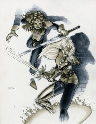 Shadowcat and Magik by RichardCox