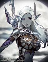 Dark Elf by PinkLadyMage
