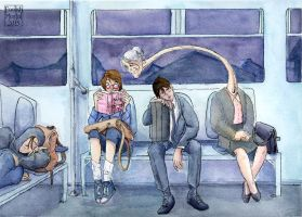 Late Night Train by lissa-quon