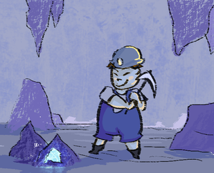 Minor Miner by Lunaoverthecow