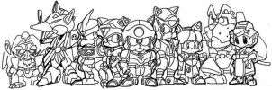 Samurai Pizza Cats by kng-bowser