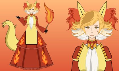 She's mad but she's magic with fire    Delphox by GaygerTheLame