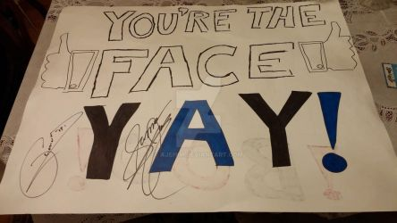 FACE YAY TNA IMPACT Sign by ajshim