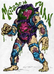 Mutagen Man Sketch By Galvatrion by Kenkira