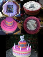 the evolution of the cake by PinkuArt