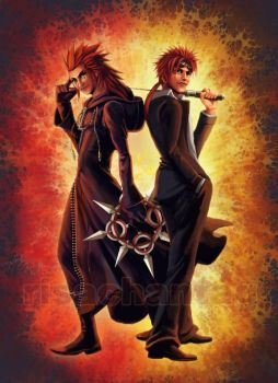 KH2+FFVII: Axel and Reno by Risachantag