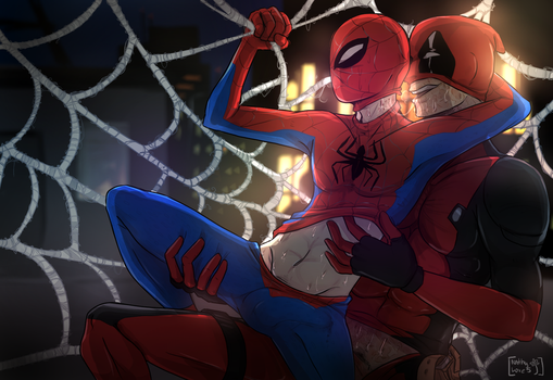 Stay here...spidy.. -Spideypool- by NathyLove5